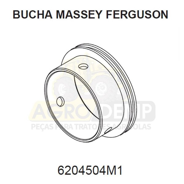 BUCHA CAVALETE DA TDP APL359 - MASSEY FERGUSON 660 / 680 / 7150 / 7170 / 7180 | MAXION 9170 - 6204504