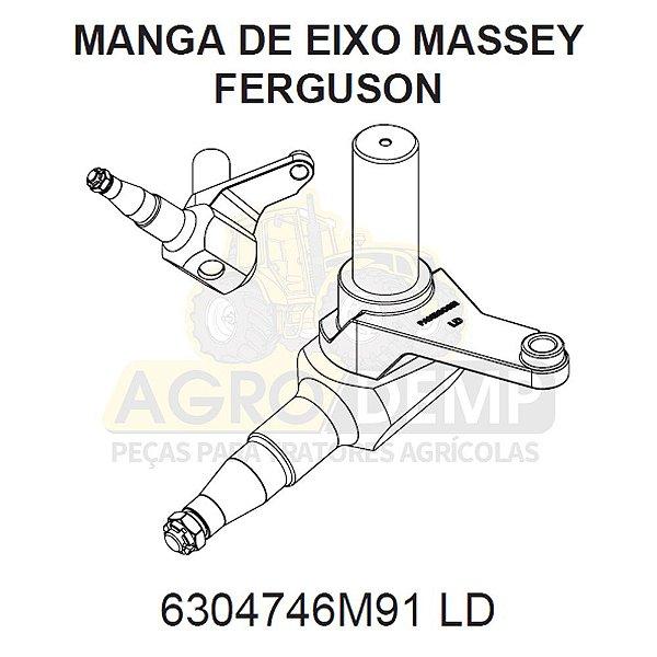MANGA DE EIXO (LADO DIREITO COLHEITADEIRA) - MASSEY FERGUSON 9790 - 6304746
