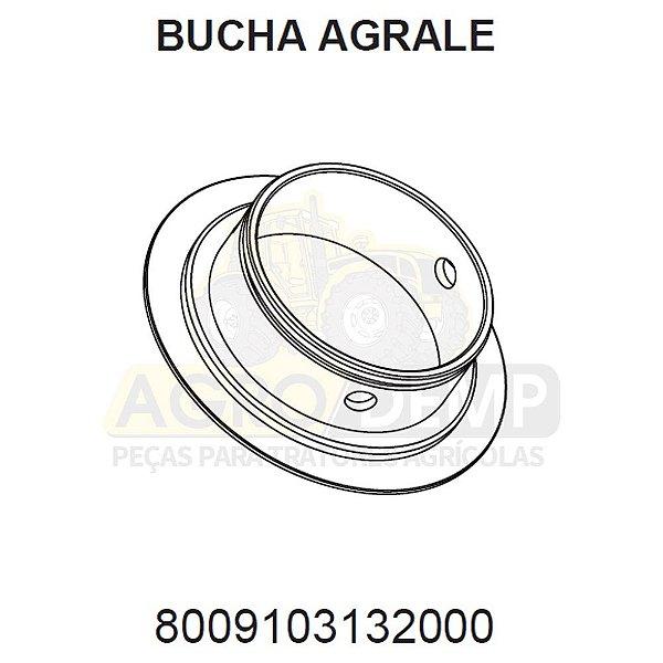 BUCHA DA CARCAÇA CAVALETE DIANTEIRO (APL 335 A 350) - AGRALE BX490 / BX4110 / BX4130 / BX6110 E BX6150 - 8009103132000