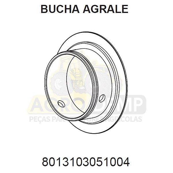 BUCHA TRAÇÃO DO EIXO ZF - AGRALE BX490 / BX4110 / BX4130 / BX6110 E BX6150 - 8013103051004