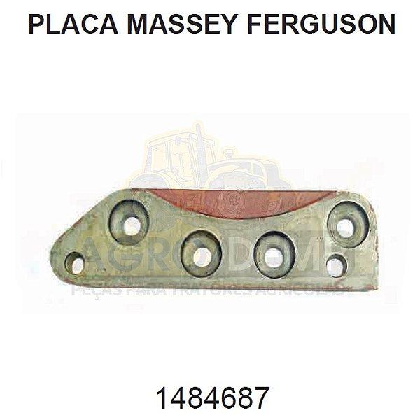 PLACA DE FIXAÇÃO DO SETOR DE DIREÇÃO MECÂNICA DA CARCAÇA - MASSEY FERGUSON 235 / 250 / 265 / 275 / 283 E 290 - 1484687