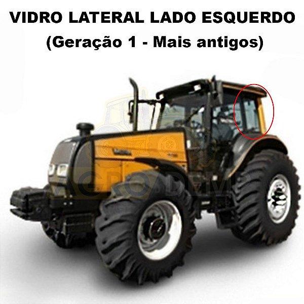 VIDRO LATERAL DA CABINE (LADO ESQUERDO) - VALTRA BH140 / BH160 / BH180 / BM85 / BM100 / BM110 E BM120 (SOMENTE GERACAO 1) - 81474800