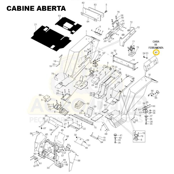 CAIXA DE FERRAMENTAS - VALTRA / VALMET 68 / 78 / 88 / 1280 / 1380 / 1580 / 1680 / 1780 E 1880 - 230970