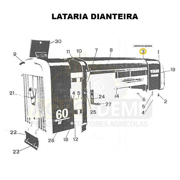 CAPOTA DA BATERIA - VALMET 60ID - 648252
