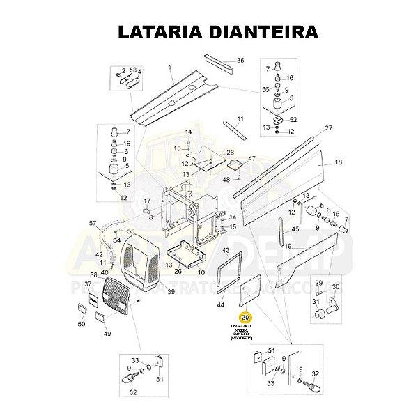 CHAPA CANTO INFERIOR DIANTEIRO (LADO DIREITO) - VALTRA BH140 / BH160 / BH180 / BH140 HI / BH160 HI / BH180 HI / 1280R / 1580 E 1780 - 81669100