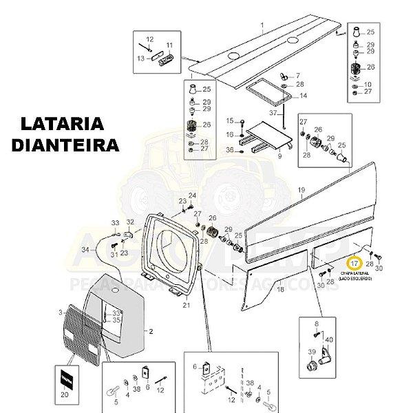 CHAPA LATERAL CANTO INFERIOR (LADO ESQUERDO) - VALTRA 985 - 80803410