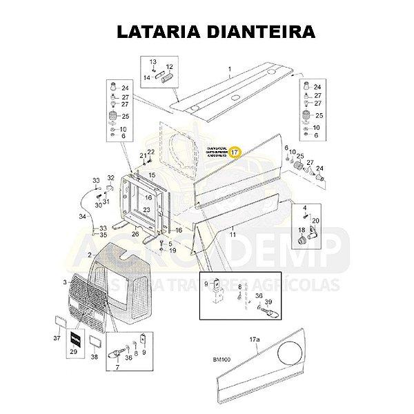 CHAPA LATERAL CANTO SUPERIOR (LADO DIREITO) - VALTRA BM85 E BM100 GERAÇÃO 1 - 81895100