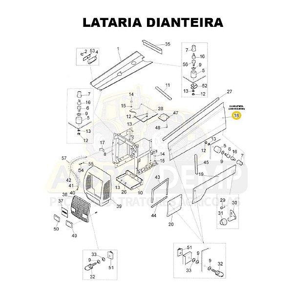 CHAPA LATERAL (LADO ESQUERDO) - VALTRA BH140 HI / BH160 HI E BH180 HI GERAÇÃO 1 - 81867900