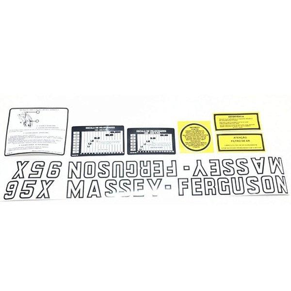 DECALQUE KIT FAIXA JOGO DE ADESIVOS MASSEY FERGUSON - 95X