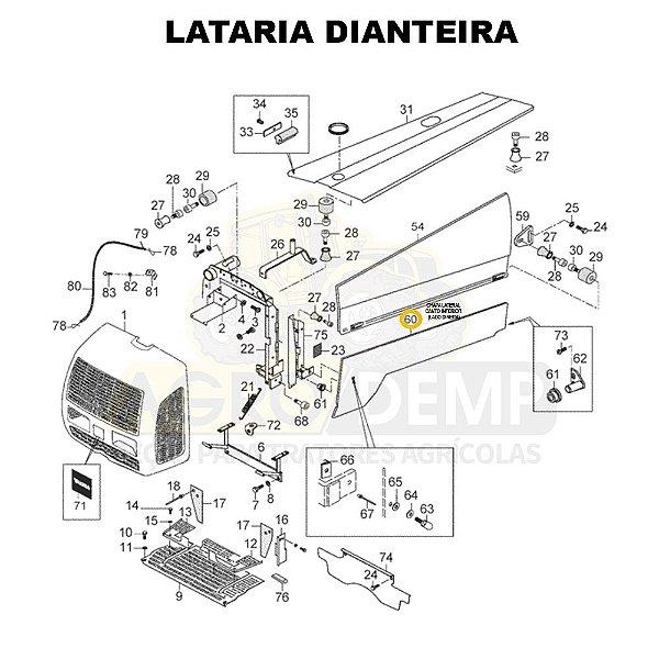 CHAPA LATERAL CANTO INFERIOR (LADO DIREITO) - VALTRA 800 E 900 - 83706410