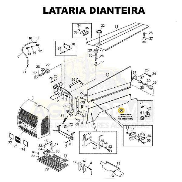 CHAPA LATERAL CANTO INFERIOR (LADO ESQUERDO) - VALTRA BF65 / BF75 / 600 E 700 - 82796311