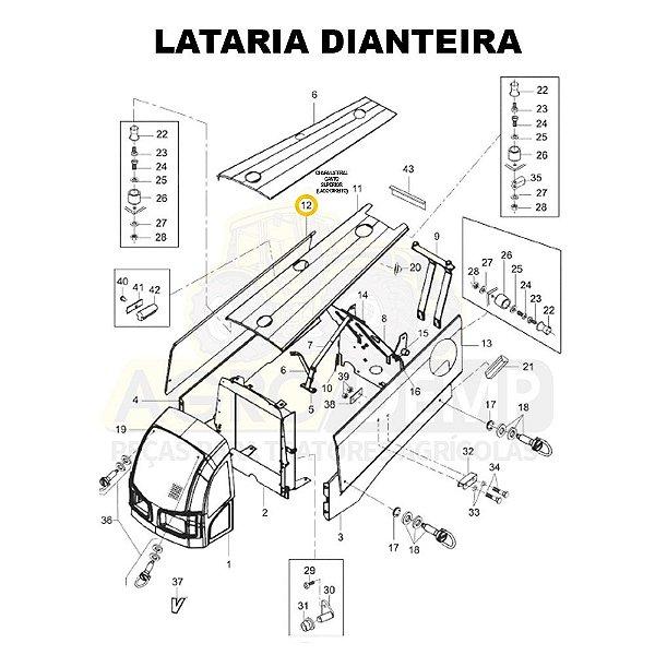 CHAPA LATERAL CANTO SUPERIOR (LADO DIREITO) - VALTRA BM85 E BM100 (GERAÇÃO 2) - 85524200