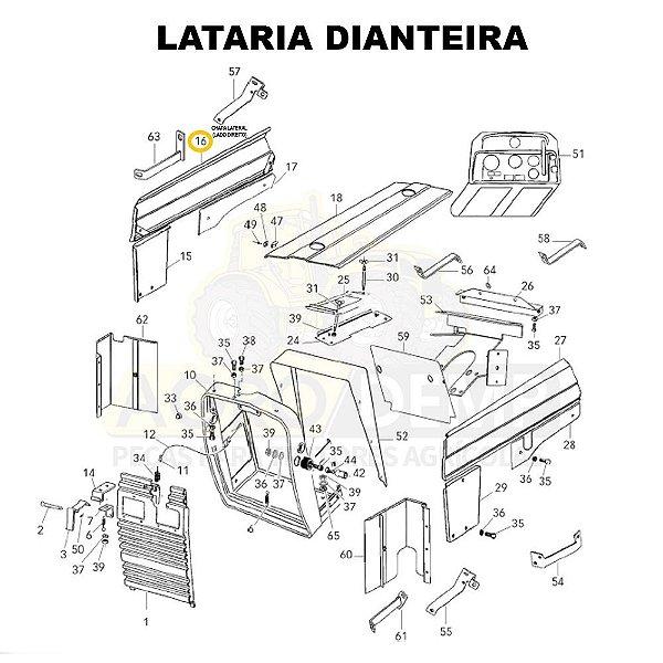CHAPA LATERAL (LADO DIREITO) - VALTRA 585 / 685C E 685F - 81937700