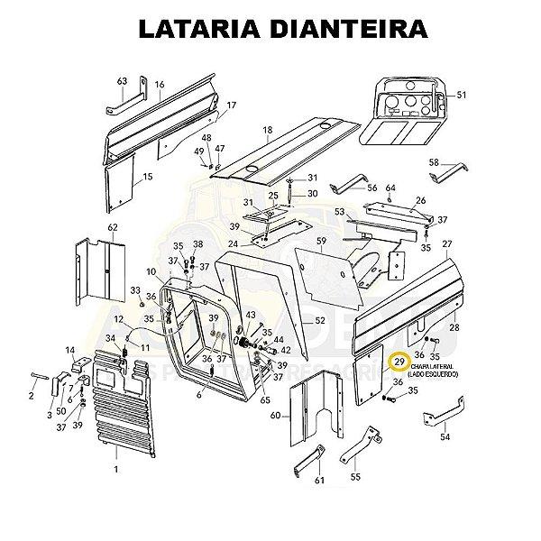 CHAPA LATERAL (LADO ESQUERDO) - VALTRA 585 / 685C / 685F / 785C E 785F - 83125400