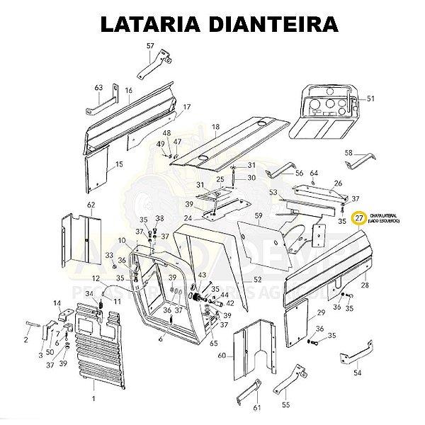 CHAPA LATERAL (LADO ESQUERDO) - VALTRA 585 / 685C E 685F - 81937600