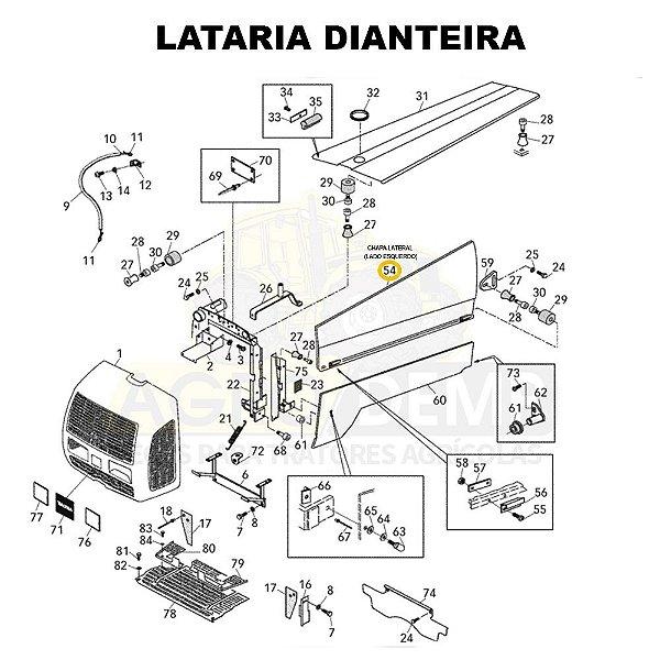 CHAPA LATERAL (LADO ESQUERDO) - VALTRA BL88 / 800 / 900 - 82314310