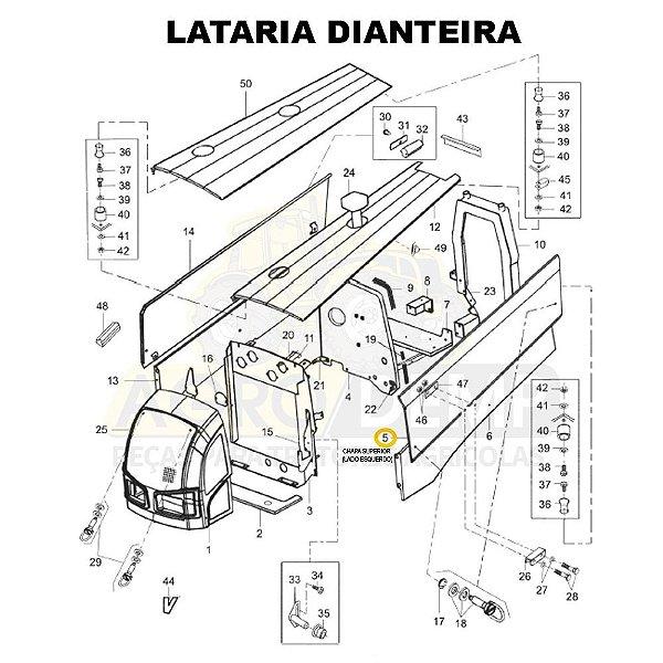 CHAPA SUPERIOR (LADO ESQUERDO) - VALTRA BM110 GERAÇÃO 2 E BM125 GERAÇÃO 1 - 85145500