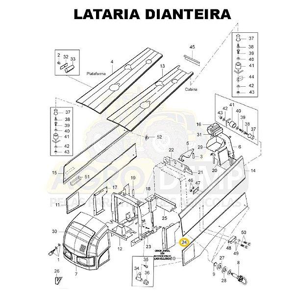 GRADE LATERAL SEM AR-CONDICIONADO (LADO ESQUERDO) - VALTRA BH145 / BH165 / BH180 E BH205 (GERAÇÃO 1 E 2) - 85454000