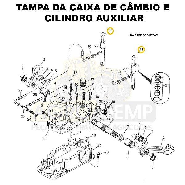 CILINDRO HIDRÁULICO COM RÓTULA - VALTRA 785C - 83435900SR