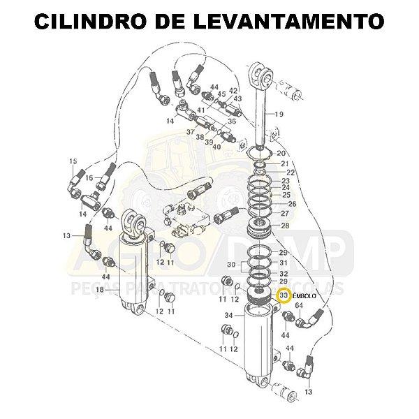 ÊMBOLO - VALTRA 885 / 985 / BH140 / BH160 / BH180 / BM85 / BM100 / BM110 / BM120 / BM125 / 1280R / 1580 / 1780 (GERAÇÕES 1 , 2 E HI) - 80043700