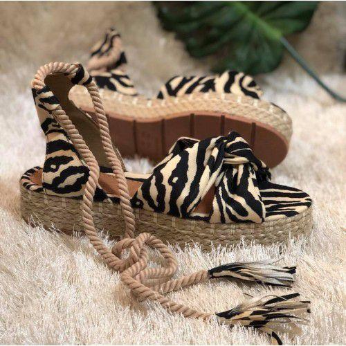 Sandália Flatform Zebra