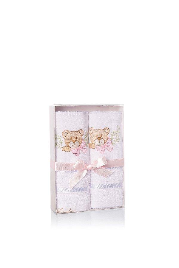 Kit Toalhas Infantil - Rosa