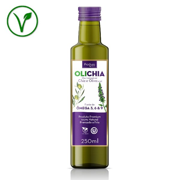 OLICHIA - Azeite Premium de Chia e Oliva - Garrafa 250ml