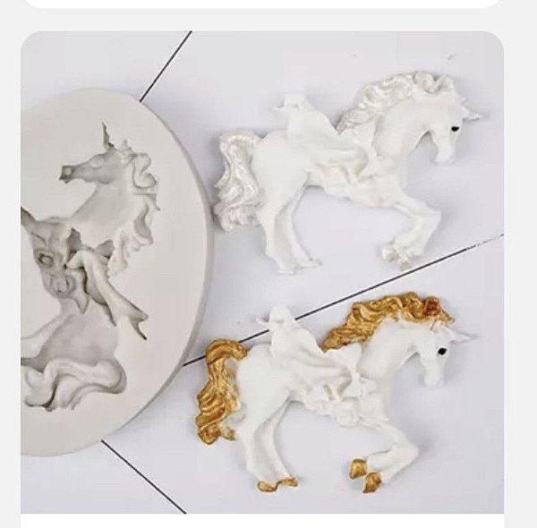 Molde Cavalo com flores 429