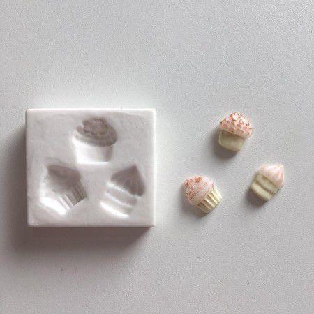 Molde Três Micro Cupcakes 656