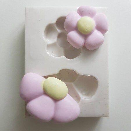Molde duas Flores 1048