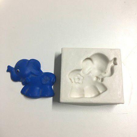 Molde Elefante com Flor 60