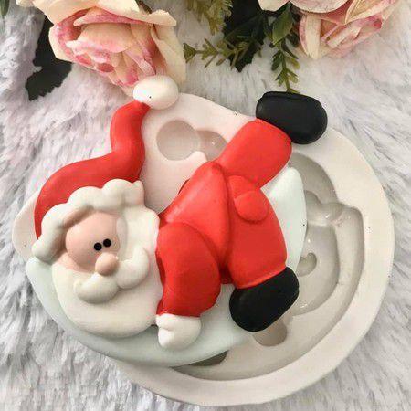 Molde Papai Noel na Lua 2081
