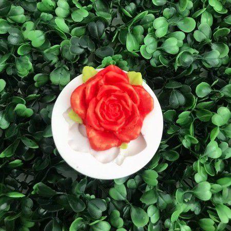 Molde Rosa com Folha 2096