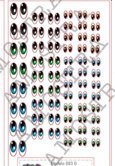 Olhos Adesivos 003