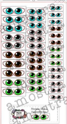 Olhos Adesivos 008