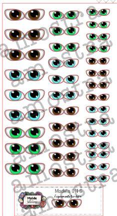 Olhos Adesivos 011