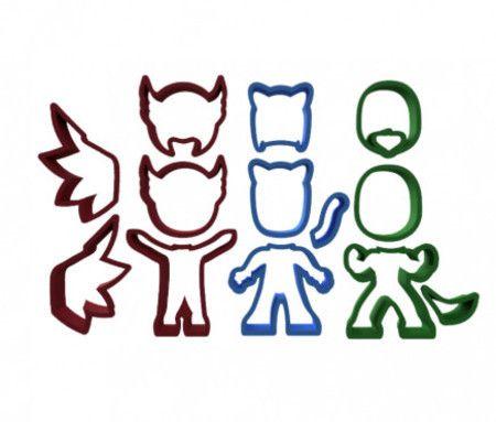Kit Cortadores PJ Masks