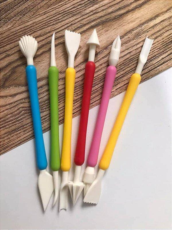 Kit de Estecas com 6 unidades Colorida