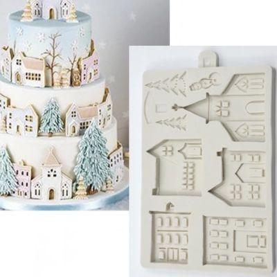 Molde Casa de Natal para Bolo 338