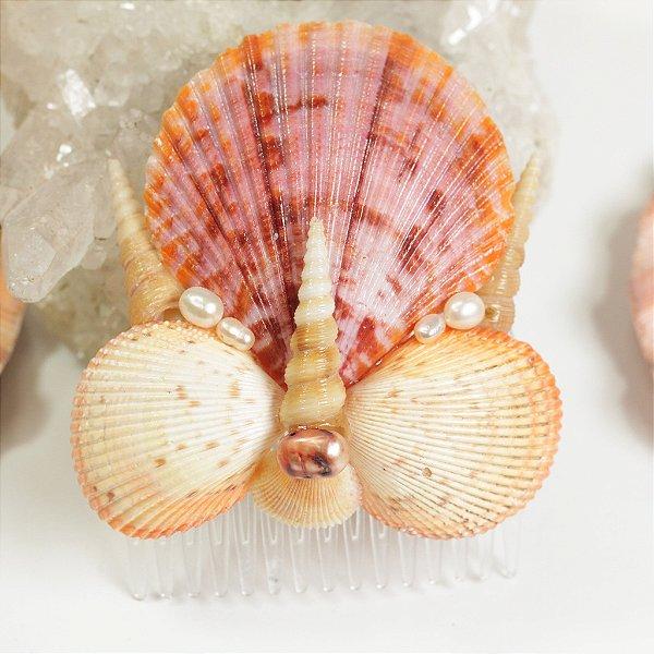 Pente de Conchas Coraline