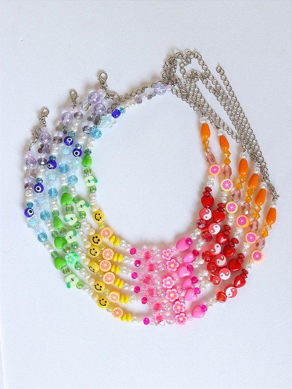 Colar Pérola de Água Doce Mix Rainbow