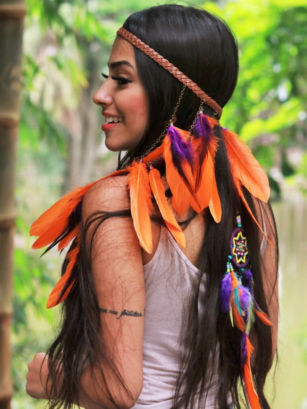 Headband de Penas Jurema