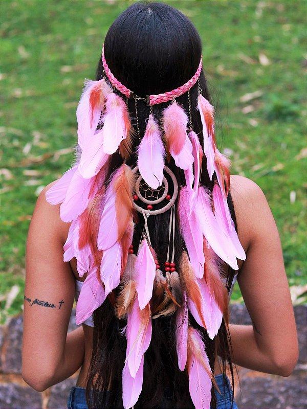 Headband de Penas Tauane