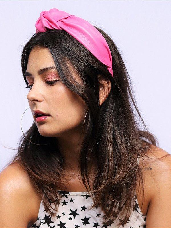 Tiara Chloe Couro Rosa