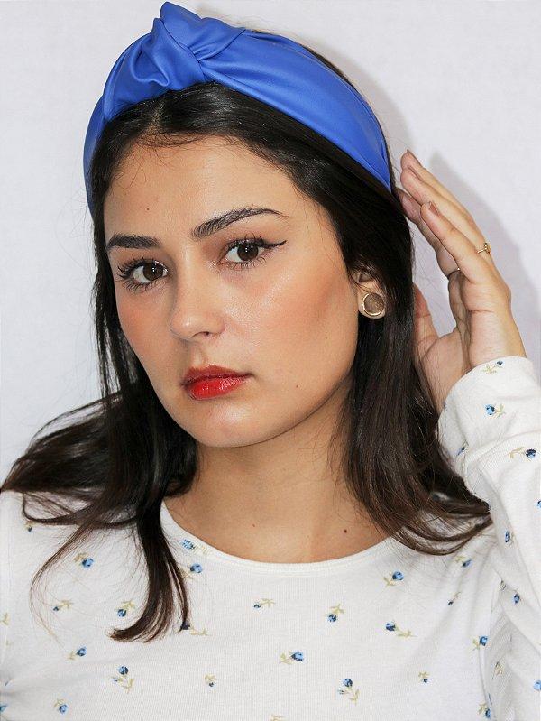 Tiara Chloe  Couro Azul Royal