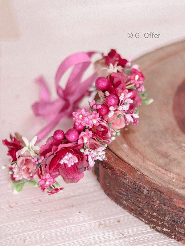 Tiara de Flores Infantil Penélope