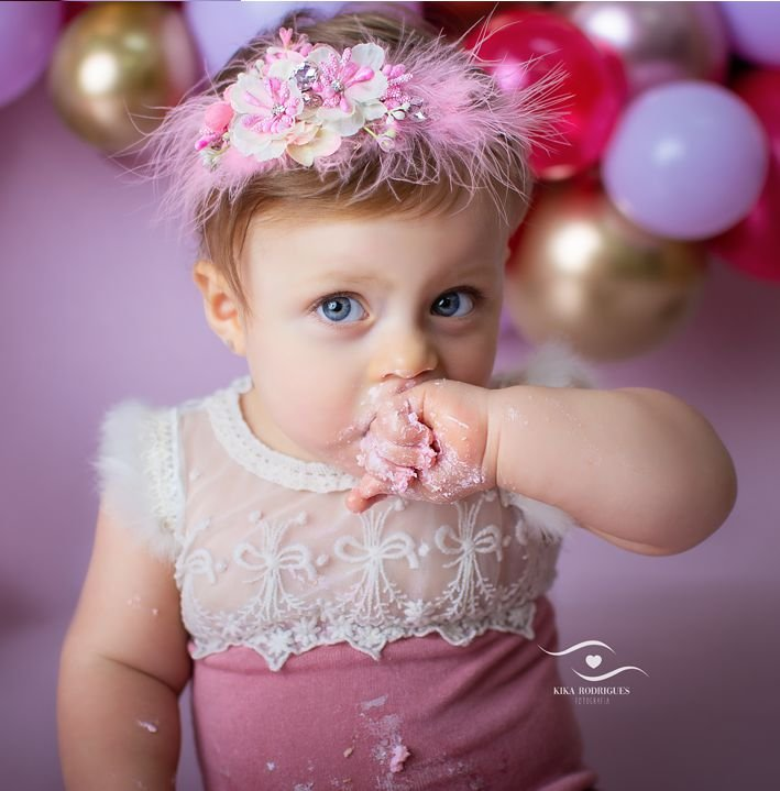 Headband Flores Bebê Áurea