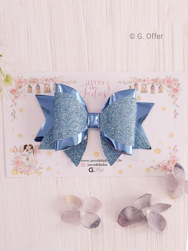 Laço Ivy Azul Glitter