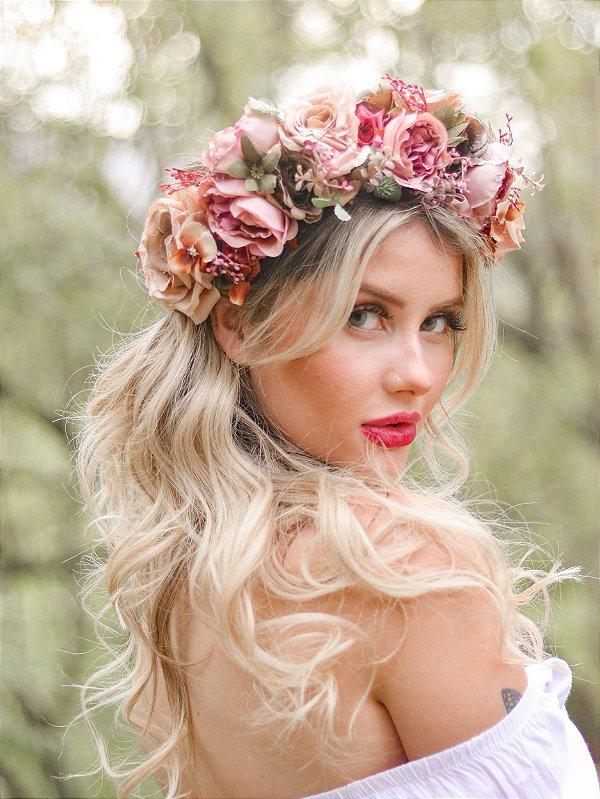 Tiara de Flores Cendi