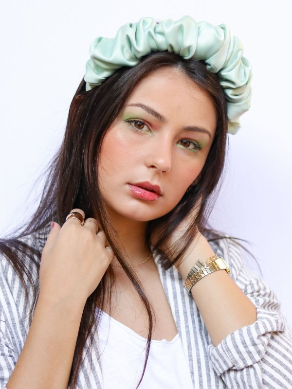 Tiara Cetim Scrunchie Mint